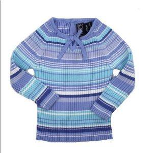 Girls Striped Sweater, Size 12M